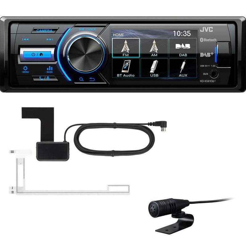 JVC KD-X561DBT Autoradio Digitalradio Bluetooth USB MP3 FLAC inkl DAB Antenne