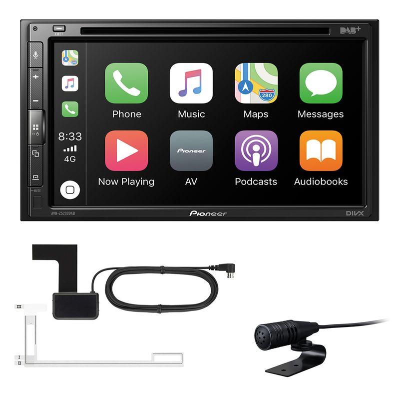Pioneer AVH-Z5200DAB Digitalradio CarPlay Android Auto Autoradio inkl Antenne