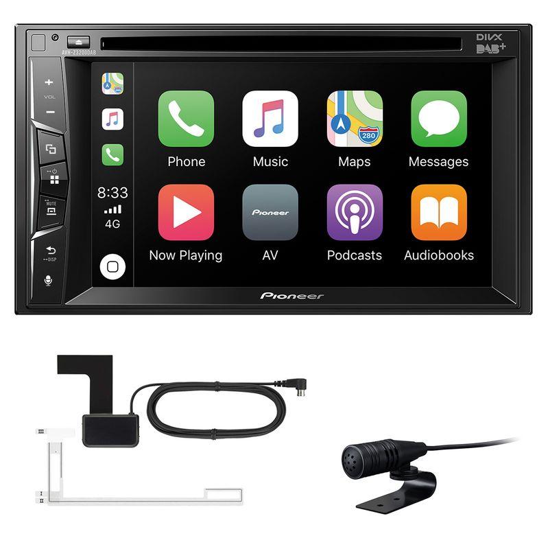 Pioneer AVH-Z3200DAB CarPlay USB MP3 DVD Bluetooth Digitalradio inkl. Antenne