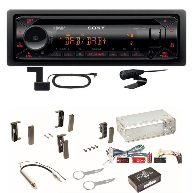 Sony MEX-N7300BD CD Bluetooth AUX MP3 DAB+ Autoradio Einbauset für Audi A3 8L