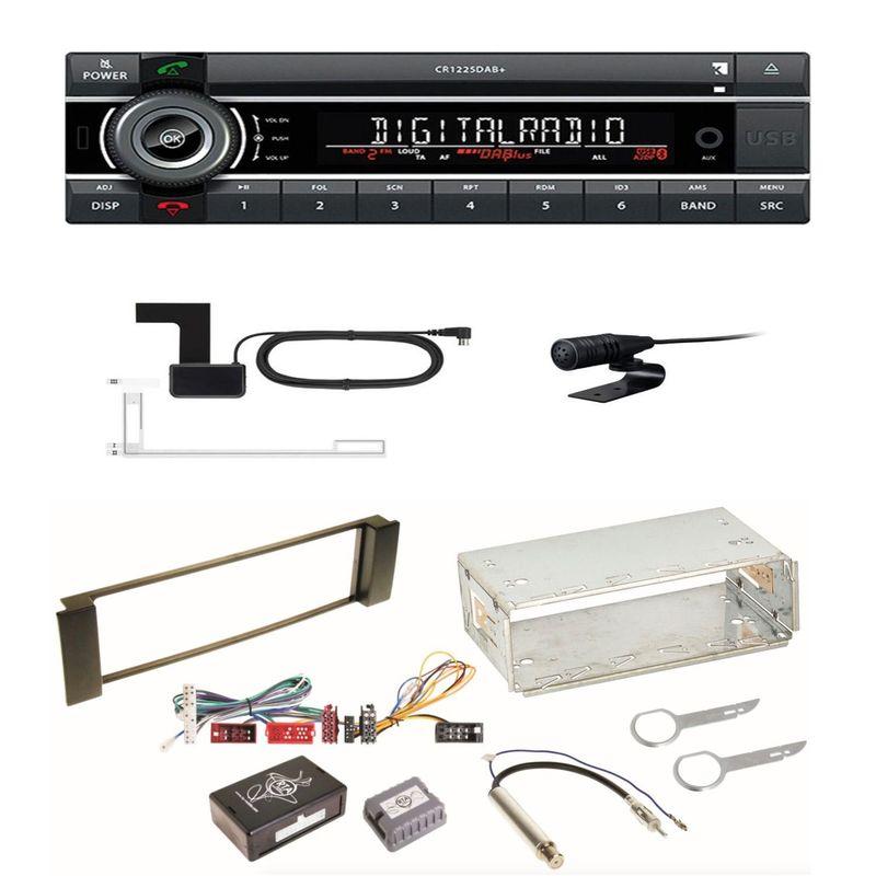 Kienzle CR 1225 DAB+ MP3 Bluetooth Digitalradio Einbauset für Audi A3 8L A6 4B