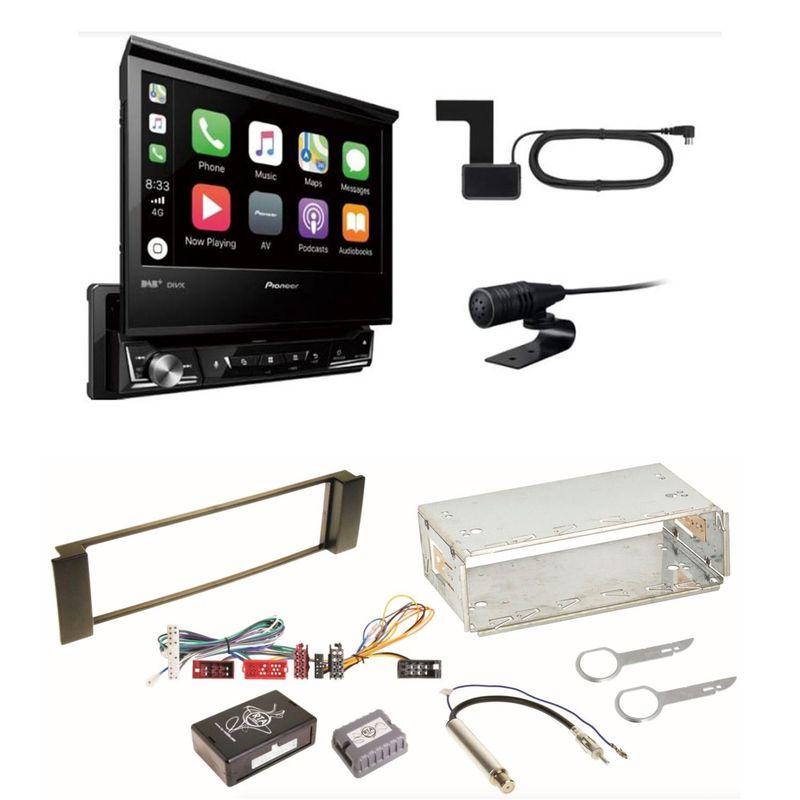 Pioneer AVH-Z7200DAB MP3 Bluetooth Digitalradio Einbauset für Audi A3 8L A6 4B