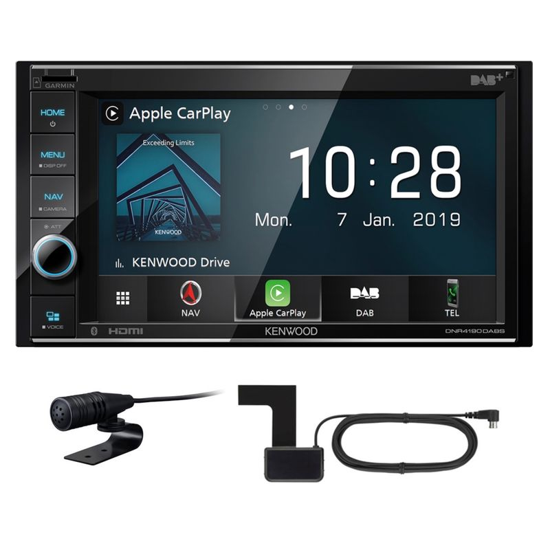 KENWOOD DNR-4190DABS 2-DIN Navigation CarPlay Digitalradio USB DAB+ inkl Antenne