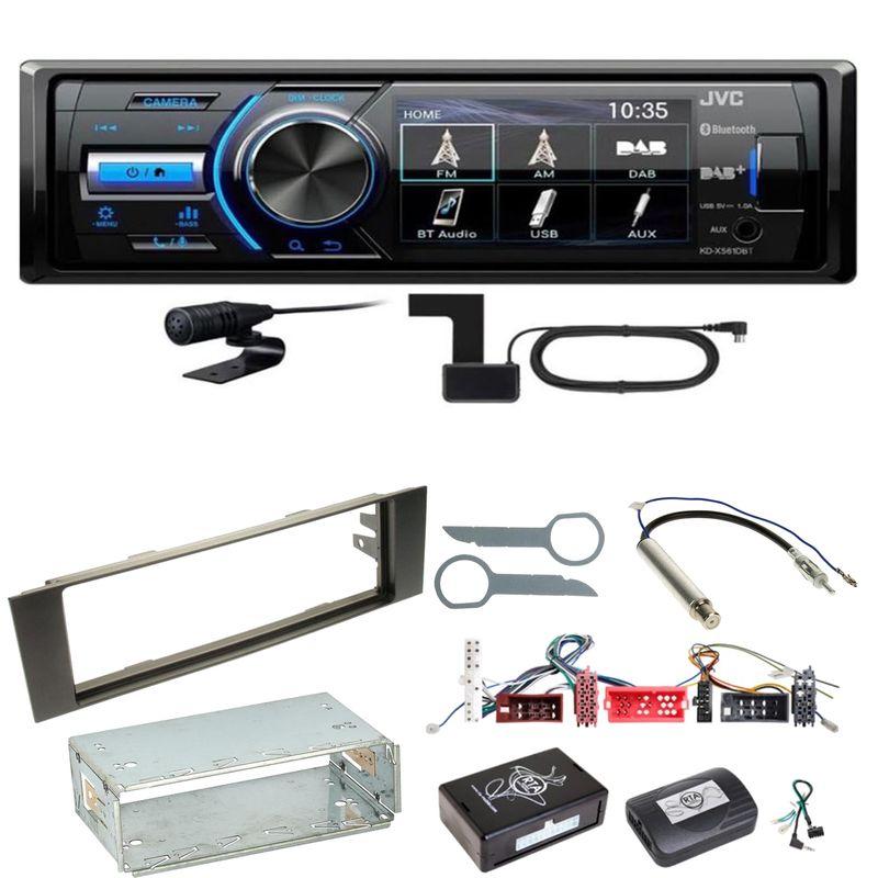 JVC KD-X561DBT Digitalradio Bluetooth USB Einbauset für Audi A3 8P 8PA