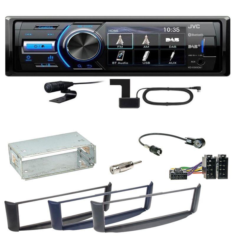 JVC KD-X561DBT Digitalradio Bluetooth USB Einbauset Smart ForTwo 450