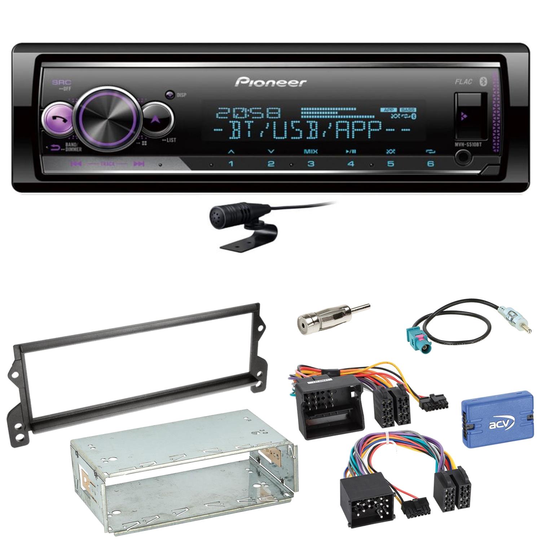 Pioneer DEH-S420BT Autoradio WAV WMA Bluetooth CD Einbauset für MINI R50 R52 R53