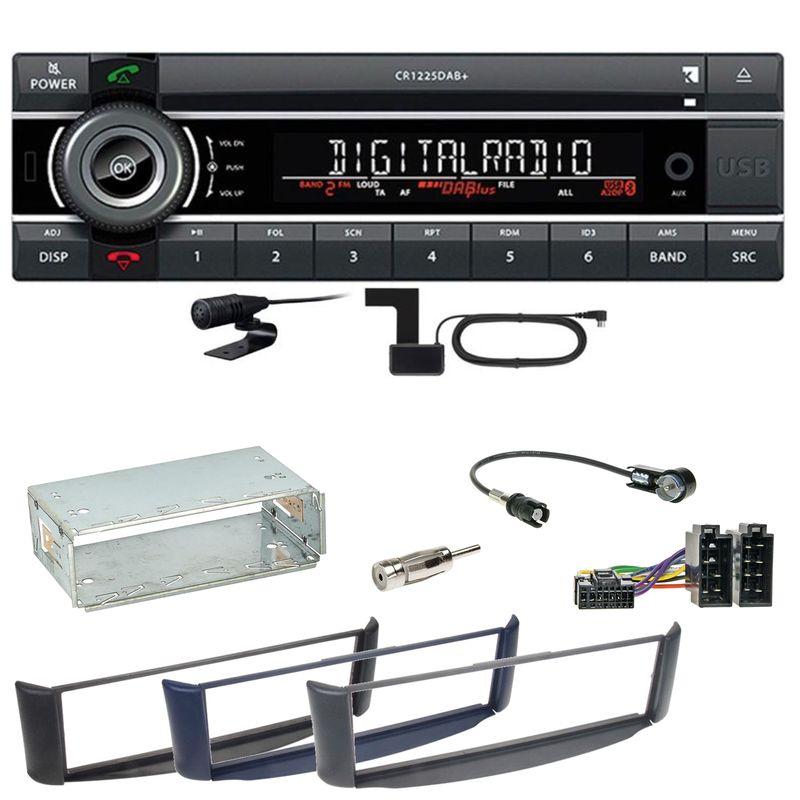 Kienzle CR 1225 DAB Digitalradio Bluetooth CD USB Einbauset Smart ForTwo 450
