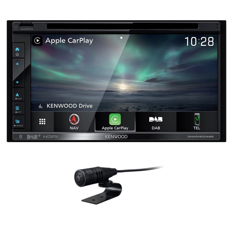 KENWOOD DNX-5190DABS 2-DIN Android Auto CarPlay Digitalradio USB DVD Naviceiver