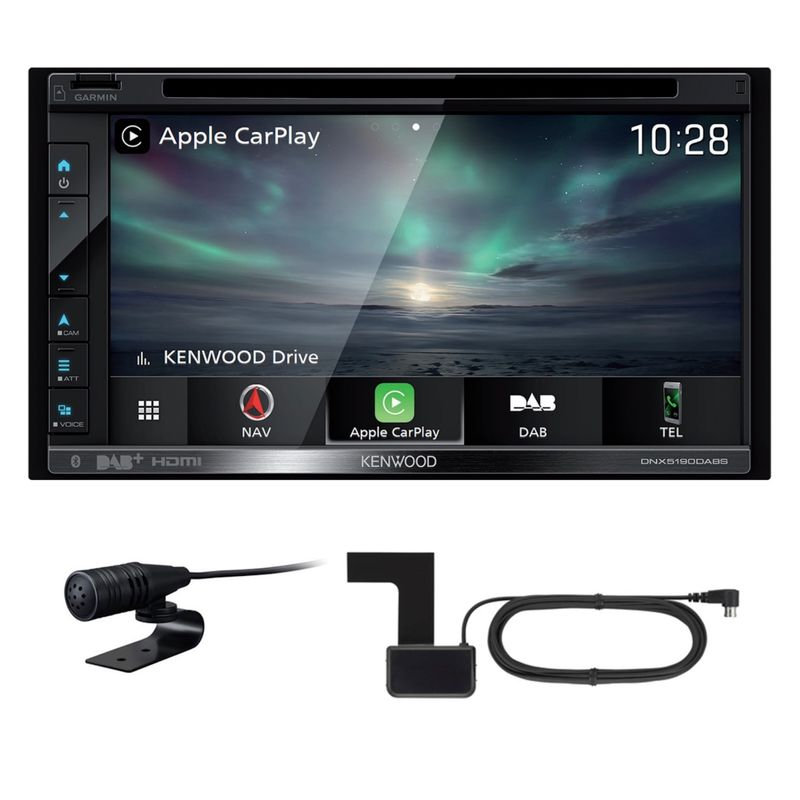 KENWOOD DNX-5190DABS 2-DIN Android Auto CarPlay Digitalradio inkl Antenne