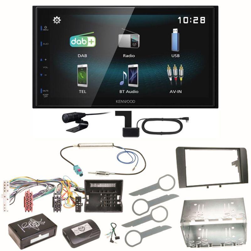 Kenwood DMX-125DAB Digitalradio Bluetooth USB Einbauset für Audi A3 8P 8PA