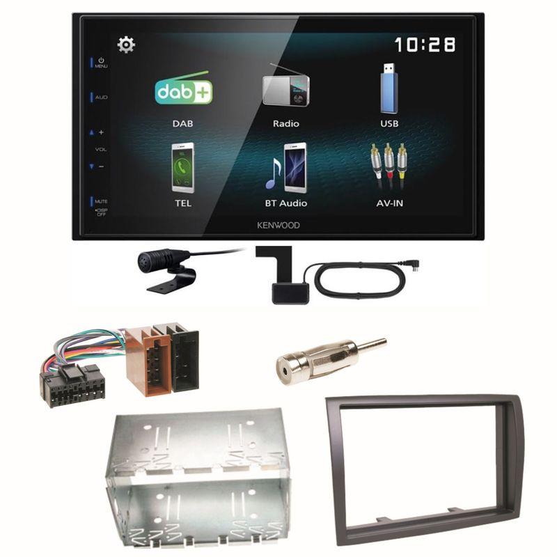 Kenwood DMX-125DAB Bluetooth DAB+ USB MP3 Einbauset für Fiat Ducato Boxer Jumper