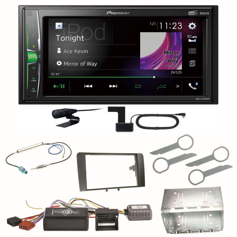 Pioneer DMH-A3300DAB Digitalradio Bluetooth WebLink Einbauset für Audi A3 8P 8PA