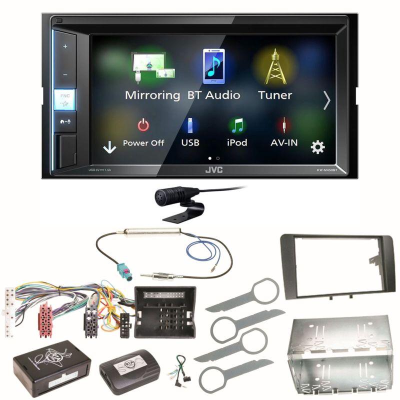 JVC KW-M450BT Bluetooth USB Autoradio Moniceiver Einbauset für Audi A3 8P 8PA