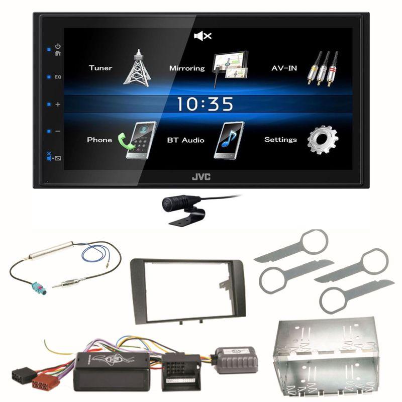 JVC KW-M25BT Bluetooth USB Autoradio Moniceiver AAC Einbauset für Audi A3 8P 8PA