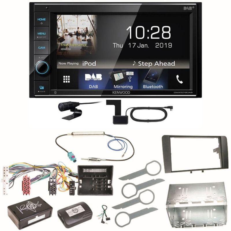 Kenwood DMX-5019DAB Bluetooth USB MP3 FLAC DAB+ Einbauset für Audi A3 8P 8PA