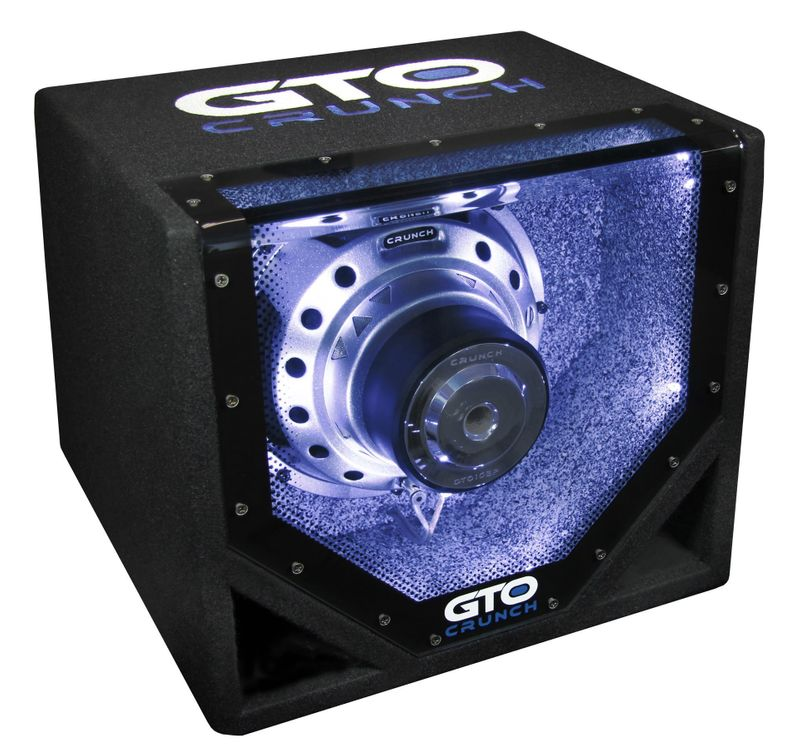 Crunch GTO-10BP Single Bandpass Subwoofer 25 cm Basskiste