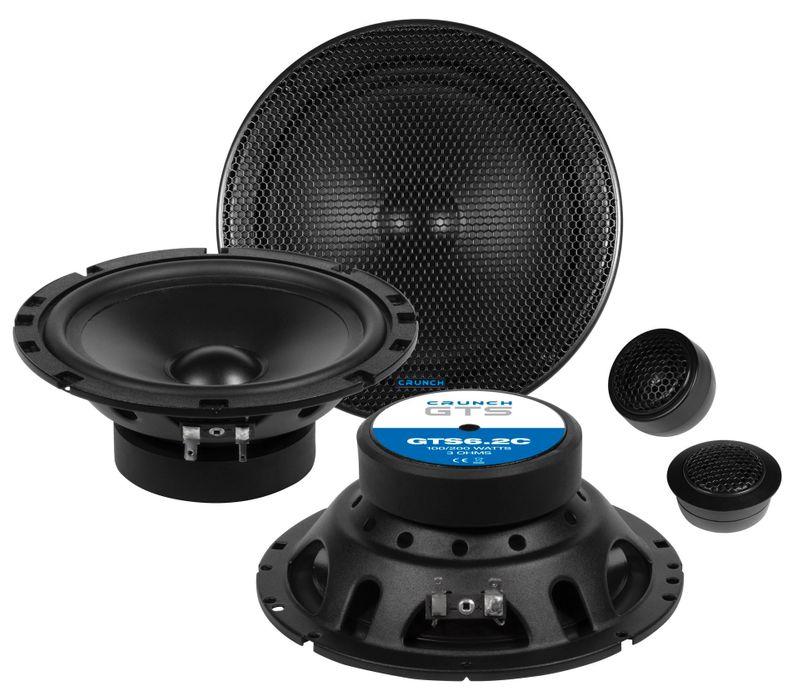 Crunch GTS-6.2C 16,5 cm 2 Wege Komponenten Lautsprecher System