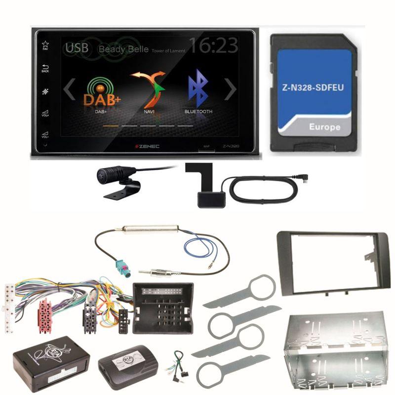 Zenec Z-N328 Bluetooth USB MP3 Navigation DAB+  Einbauset für Audi A3 8P 8PA