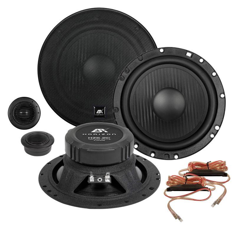 ESX HORIZON HZ-6.2C 16,5 cm 2 Wege Komponenten Lautsprecher System 165 mm HZ6.2C