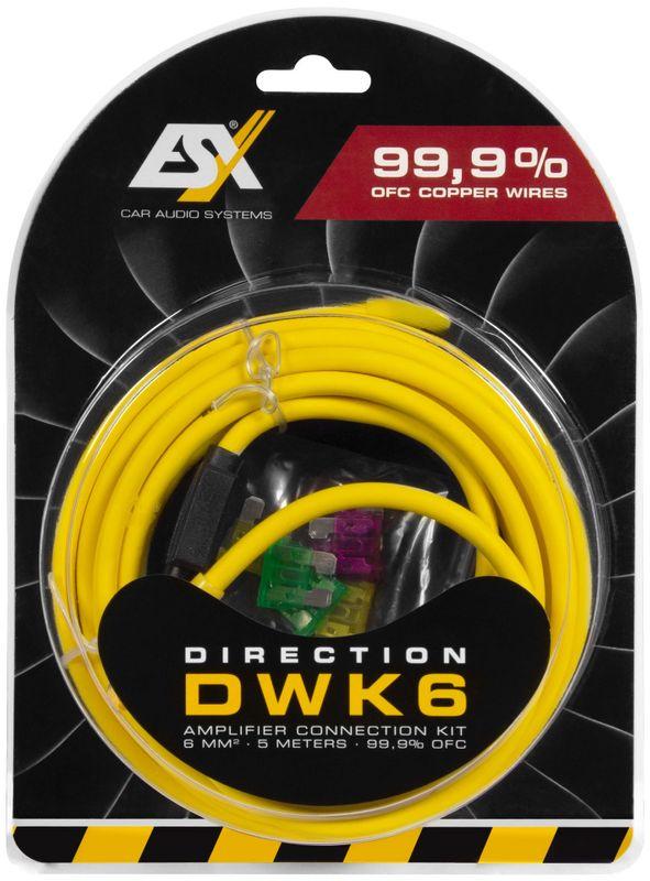 ESX DIRECTION DWK6 6 qmm Verstärker Anschluss Kabelset Anschlusskit