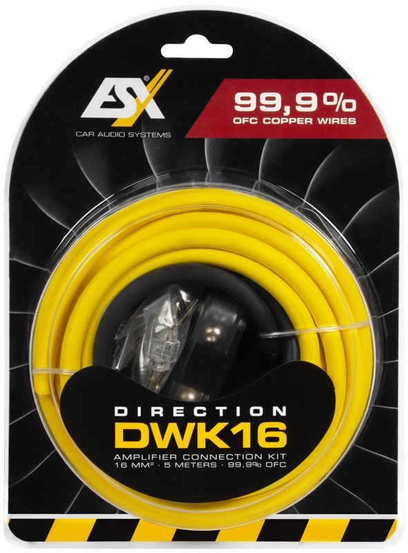 ESX DIRECTION DWK16 16 qmm Verstärker Anschluss Kabelset Anschlusskit