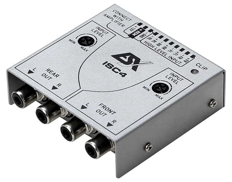 ESX ISC4 4 Kanal High Low Level Converter Adapter mit Remote