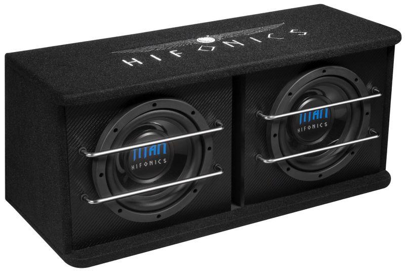 HIFONICS TD200R 2 x 20 cm Dual Bassreflex Subwoofer Kiste Basskiste