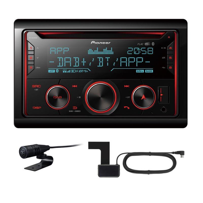 PIONEER FH-S820DAB 2 DIN Autoradio mit DAB Bluetooth Digitalradio inkl Antenne