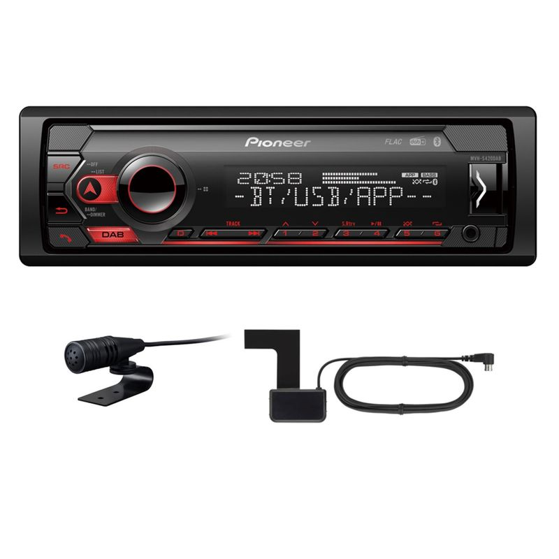 PIONEER MVH-S420DAB USB MP3 DAB+ Autoradio Digitalradio inkl Antenne