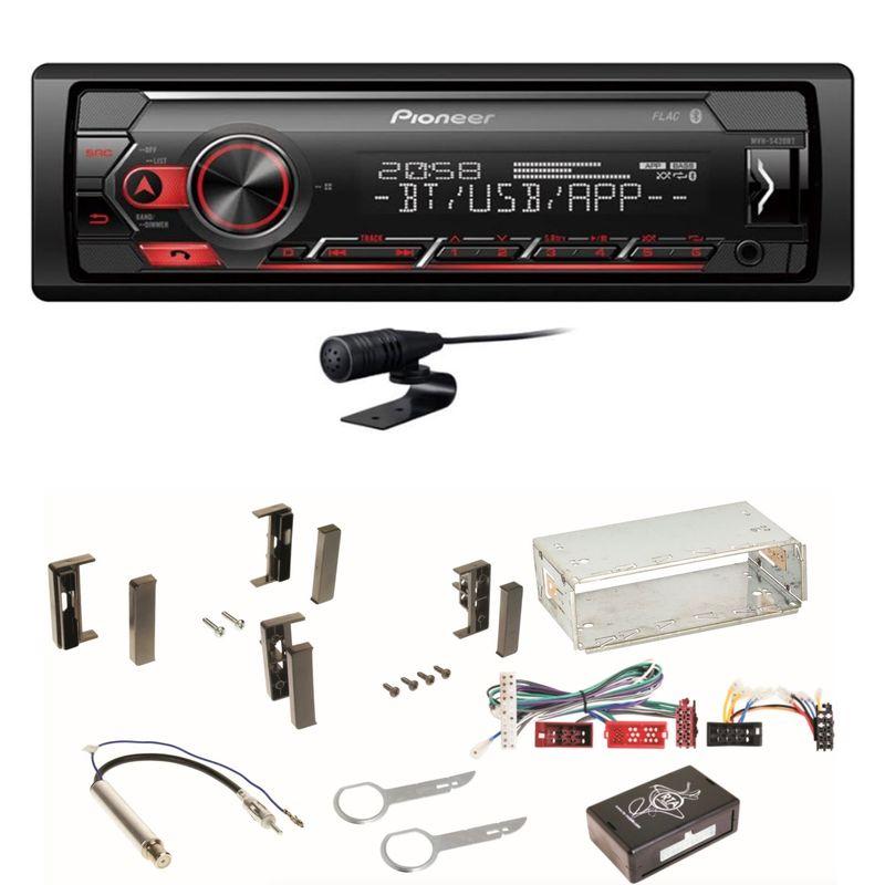 Pioneer MVH-S420BT Bluetooth USB MP3 FLAC Autoradio Einbauset für Audi A3 8L
