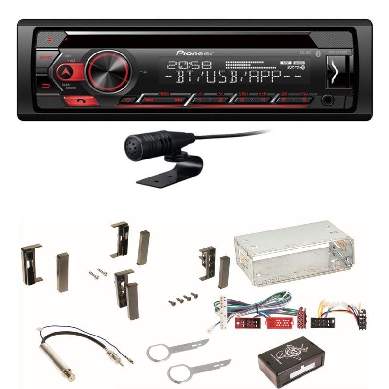 Pioneer DEH-S420BT Autoradio USB MP3 Bluetooth CD MP3 Einbauset für Audi A3 8L