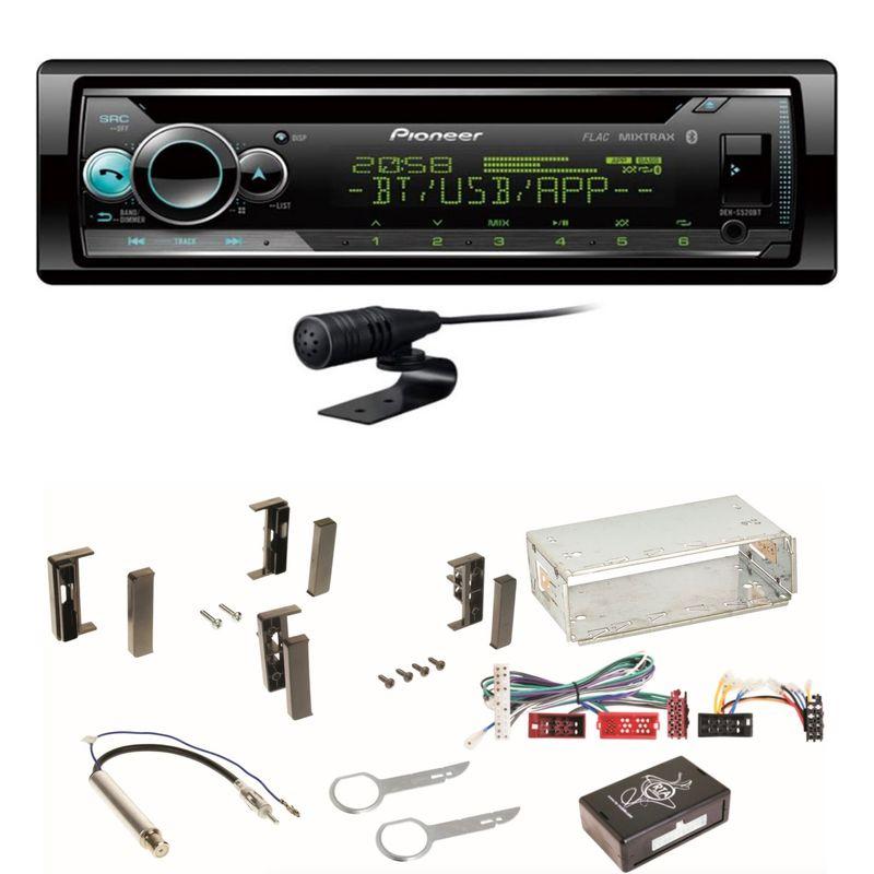 Pioneer DEH-S520BT Autoradio USB MP3 Bluetooth CD MP3 Einbauset für Audi A3 8L