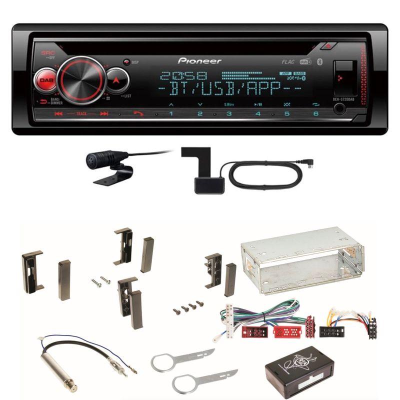 Pioneer DEH-S720DAB Bluetooth USB MP3 Digitalradio MP3 Einbauset für Audi A3 8L