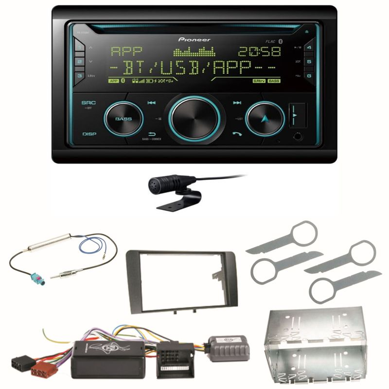 Pioneer FH-S720BT Bluetooth USB MP3 CD Autoradio Einbauset für Audi A3 8P 8PA