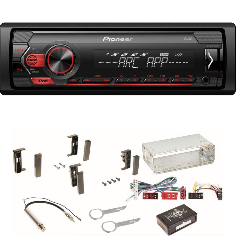 Pioneer MVH-S120UI MP3 USB FLAC Autoradio AUX WMA WAV Einbauset für Audi A3 8L