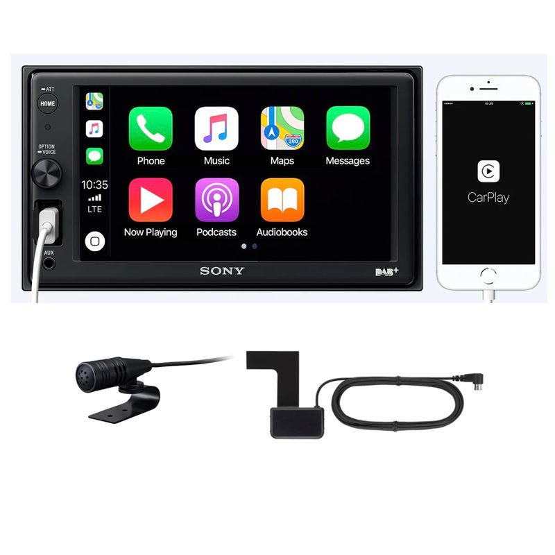 Sony XAV-AX1005KIT Apple CarPlay USB Bluetooth Autoradio MP3 Moniceiver