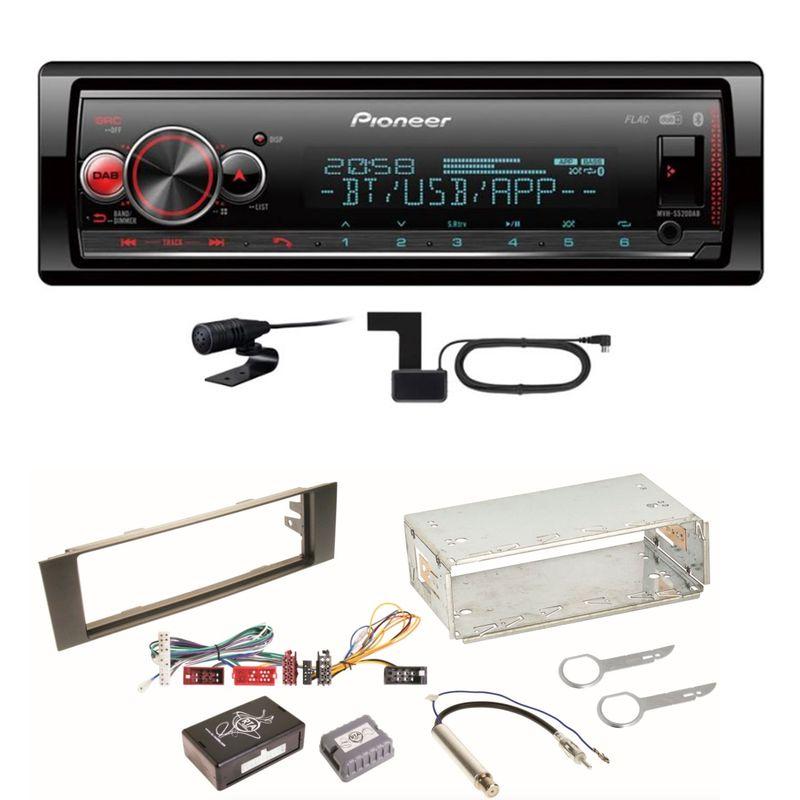 Pioneer MVH-S520DAB USB FLAC Digitalradio AUX WMA Einbauset für Audi A3 8P 8PA