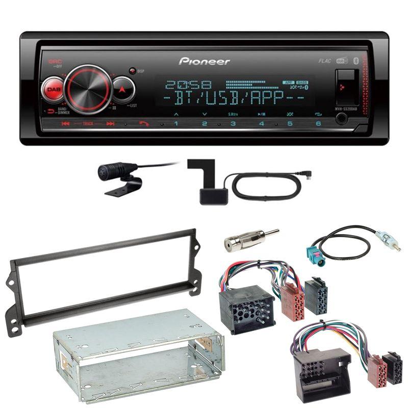 Pioneer MVH-S520DAB FLAC Digitalradio Bluetooth Einbauset für MINI R50 R52 R53