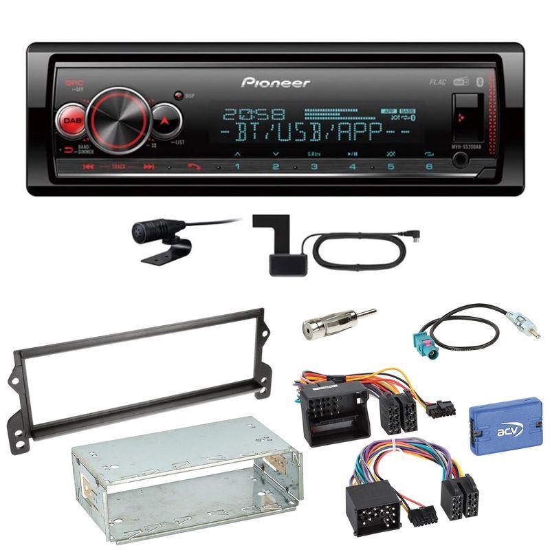 Pioneer MVH-S520DAB Bluetooth FLAC Digitalradio Einbauset für MINI R50 R52 R53