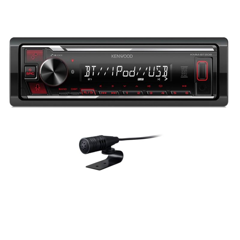 KENWOOD KMM-BT206 Autoradio Bluetooth USB FLAC MP3 WMA AOA 2.0
