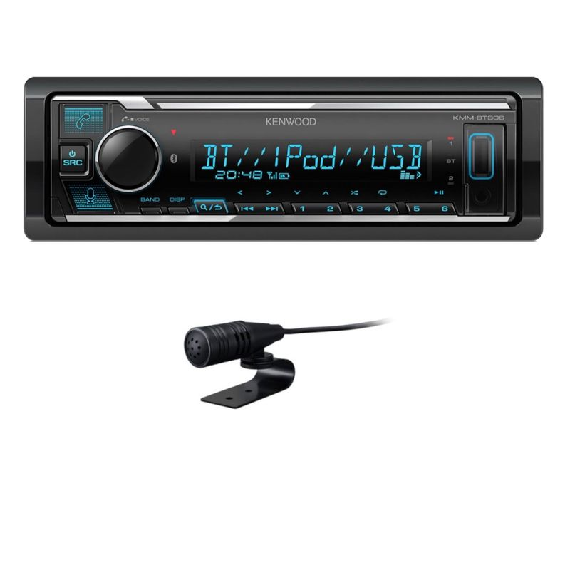 KENWOOD KMM-BT306 USB Bluetooth FLAC MP3 WMA Autoradio AOA 2.0