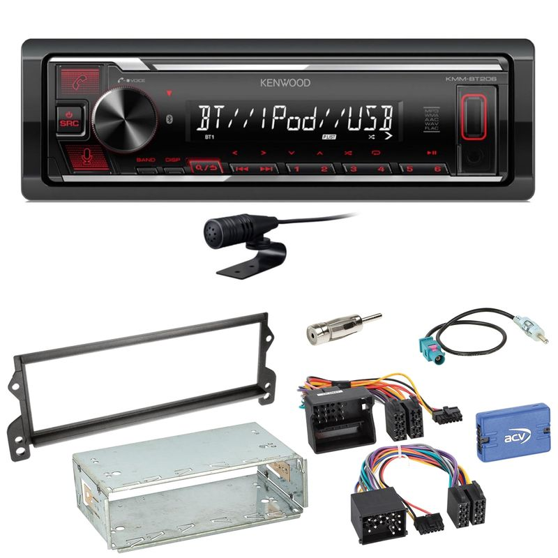 Kenwood KMM-BT206 Bluetooth FLAC Bluetooth MP3 Einbauset für MINI R50 R52 R53