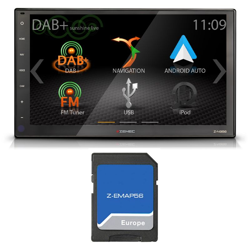 "ZENEC Z-N956 2-DIN Naviceiver Android Auto Navigation DAB+ USB 22,9cm / (9"")"