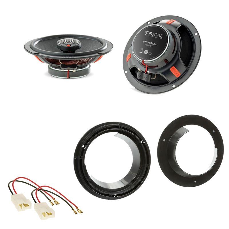 Focal ICU165 Koaxial Lautsprecher Einbauset für Suzuki Grand Vitara SX4 Swift