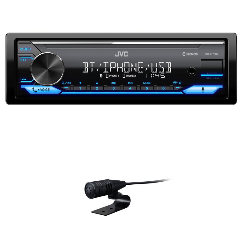 JVC KD-X372BT Bluetooth USB AUX MP3 FLAC Autoradio Digital Media Receiver