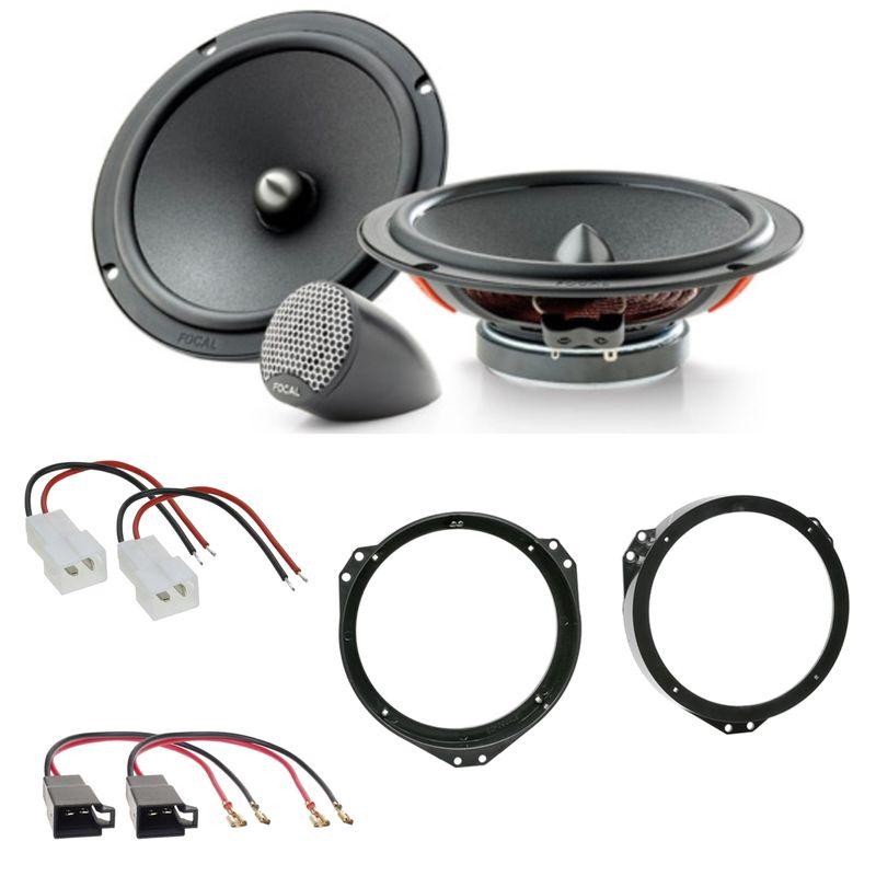 Focal ISU165 2-Wege System Lautsprecher Einbauset für Ducato Jumper Boxer vorne