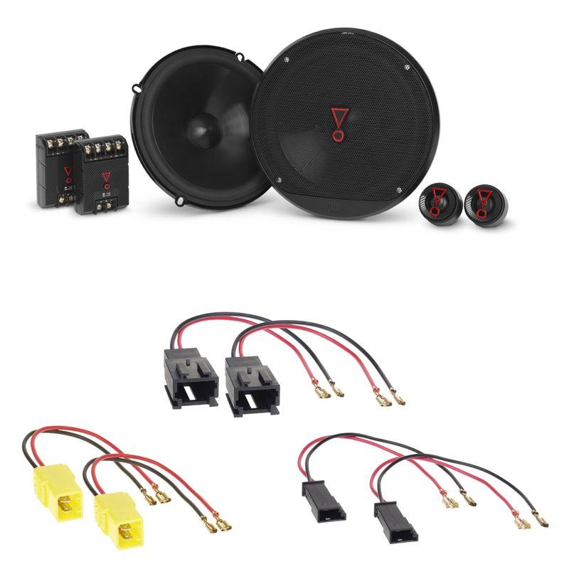 JBL Stage3 607C Lautsprecher Einbauset für Citroen C2 C3 Pluriel C4 C5 C8 vorne