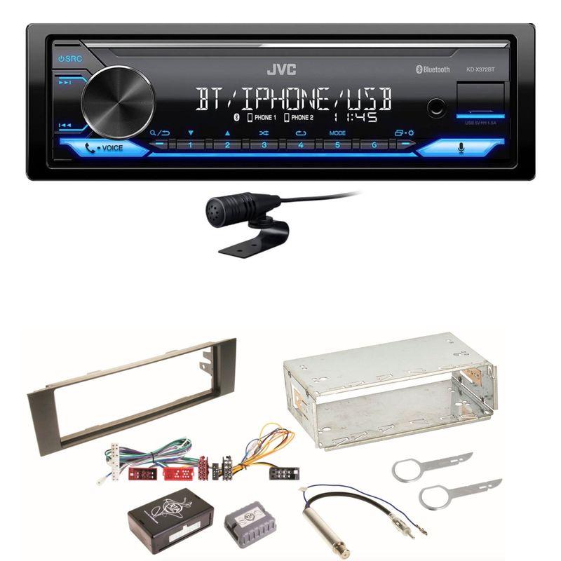 JVC KD-X372BT USB FLAC Bluetooth AUX WMA MP3 Einbauset für Audi A3 8P 8PA