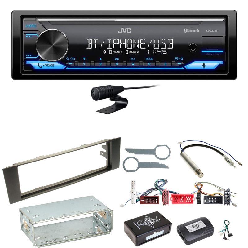 JVC KD-X372BT Bluetooth AUX MP3 WMA Einbauset für Audi A3 8P 8PA