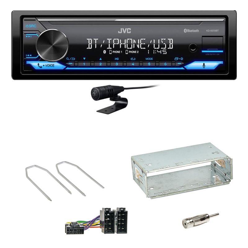 JVC KD-X372BT USB FLAC Bluetooth MP3 WMA Einbauset für Dacia Duster bis 2012